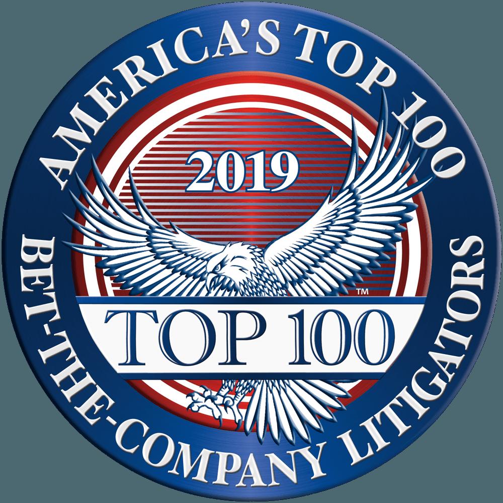 America's Top 100 Bet The Company Litigators 2019.