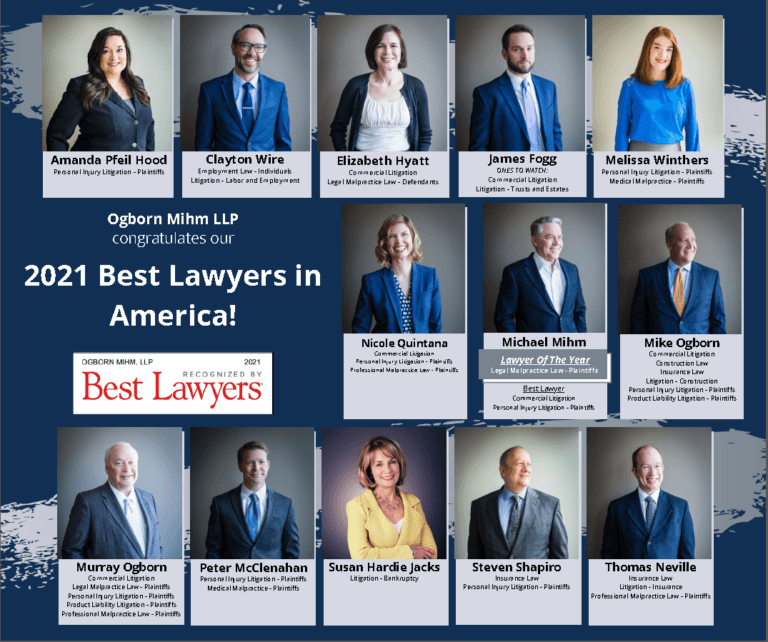 Thirteen Ogborn Mihm Lawyers Named 2021 Best Lawyers In America.