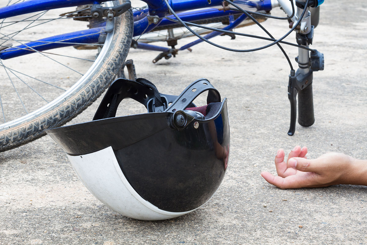 Traumatic Brain Injury From Bicycle Accident.